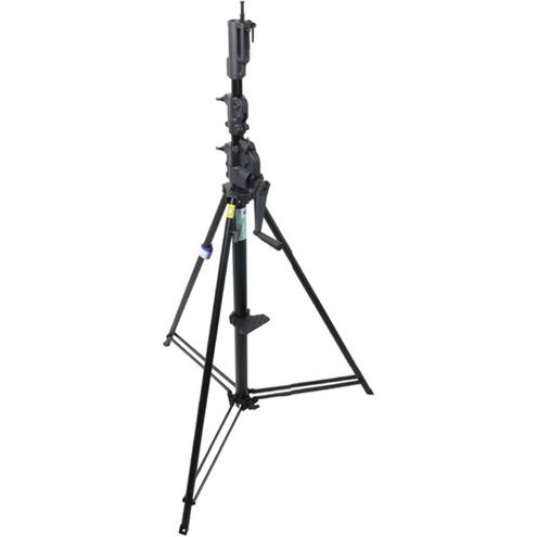 483BT 3 Section Wind-Up Stand with Auto Self Locking Device - Black