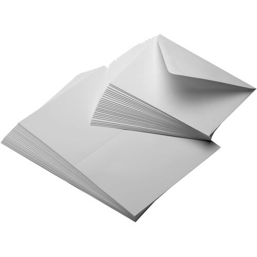 "7""x10"" Entradalopes 190 Bright 25 Scored Cards/ 25 Envelopes"
