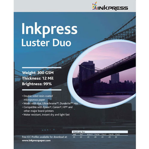 """13""""x19"""" Luster DUO 300gsm 100 Sheets"""