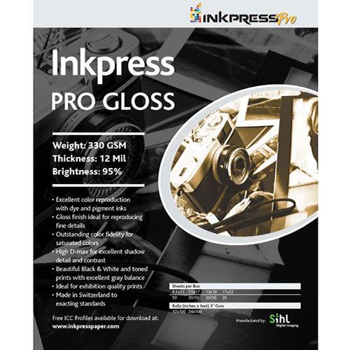 "8.5"" x 11"" PRO Gloss 330gsm 50 Sheets"