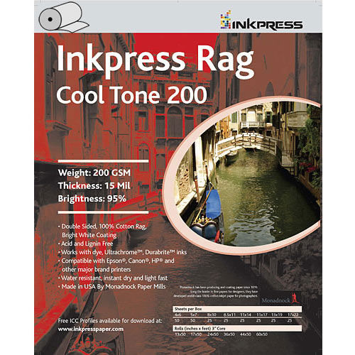"""8.5"""" x 11"""" Rag Cool Tone DUO 200gsm 15mil 25 Sheets"""