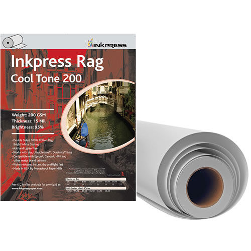 "24"" x 50' Rag Cool Tone DUO 200gsm 15mil Roll"
