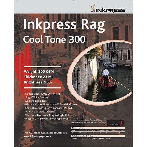 """8.5"""" x 11"""" Rag Cool Tone DUO 300gsm 24mil 25 Sheets"""