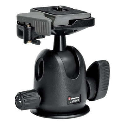 496RC2 Compact Ball Head with 200 Plate and Friction Control