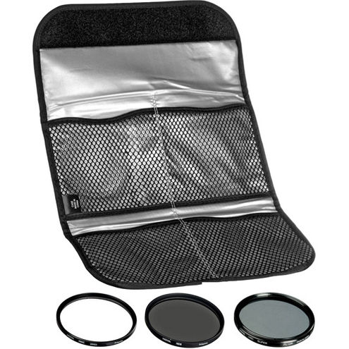 52mm Digital Filter Kit UV, PL-CIR,  Neutral Density 8x, Pouch