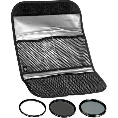 77mm Digital Filter Kit 2 - UV, PL-CIR,  Neutral Density 8x, Pouch