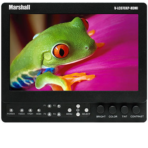 """7"""" on Camera Monitor with Composite, Component, HDMI Inputs, No Battery Mount"""