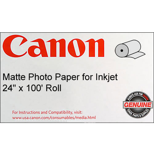 "24""x100'  Matte Coated Paper 170gsm - Roll"