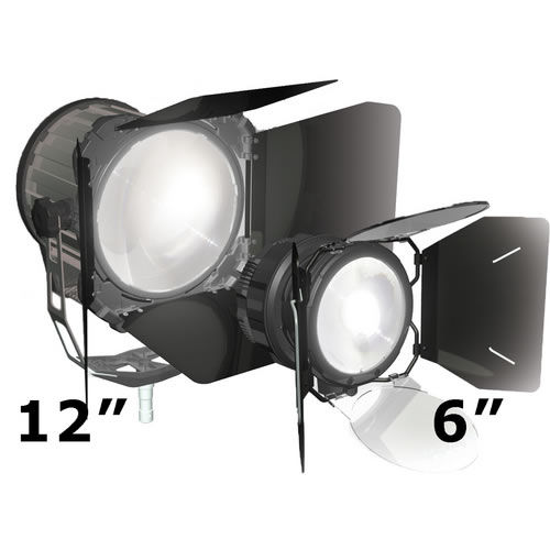 Sola12 Fresnel LED Light Fixture with Mounting Yoke and Power Cable  sola12