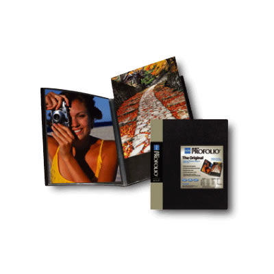 "8 1/2""x11"" Presentation Book Original Art Profolio Black 6 Pages"