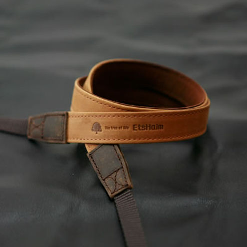 "EtsHaim Leather Strap ""Vintage-20"" Tan"