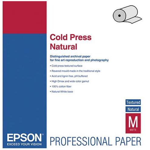 "60"" x 50' Cold Press Natural Roll"