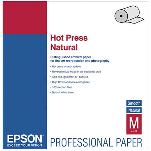 "24"" x 50' Hot Press Natural Roll"