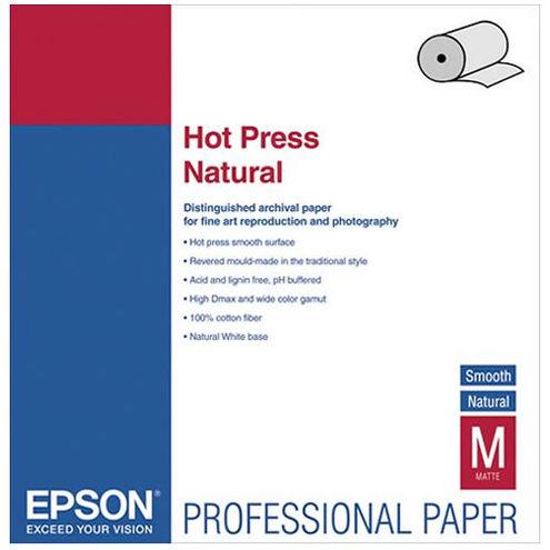 "24"" x 50' Hot Press Natural Roll"