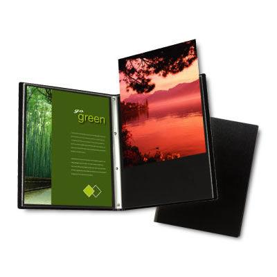 "4"" x 6"" Presentation Book 24 pgs,black cover, portrait  Art Portfolio Advantage Series"