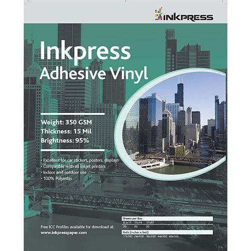 "17"" x 22"" Adhesive Vinyl 13mil 20 Sheets"