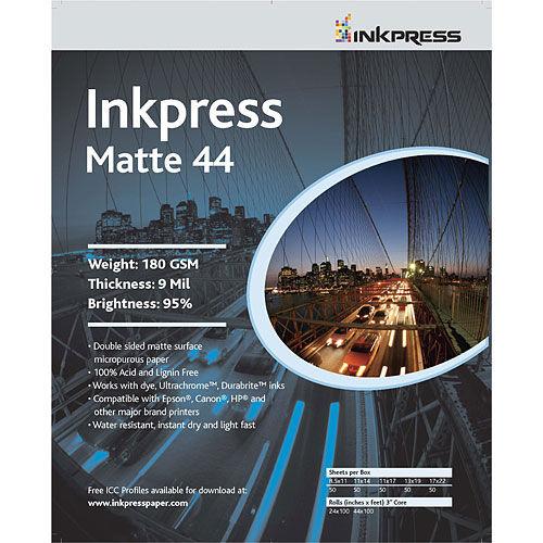 """17"""" x 22"""" Matte Duo 44 180gsm 50 Sheets"""