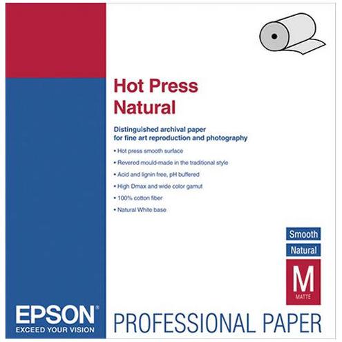 "17"" x 50' Hot Press Natural Roll"