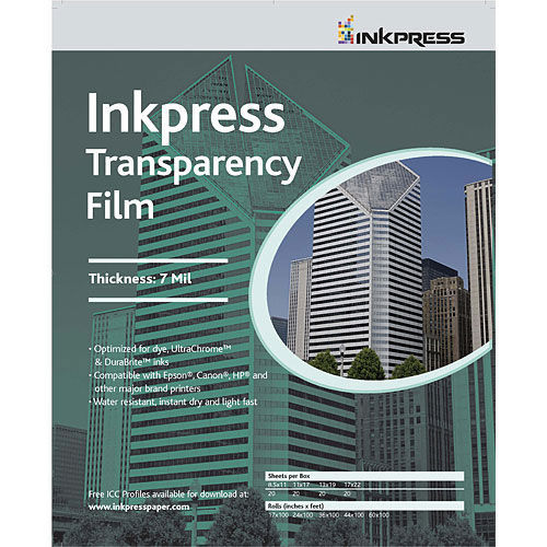"""13"""" x 19"""" Transparency Film 7mil 50 Sheets"""
