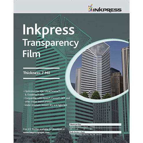 """13"""" x 19"""" Transparency Film 7mil 20 Sheets"""