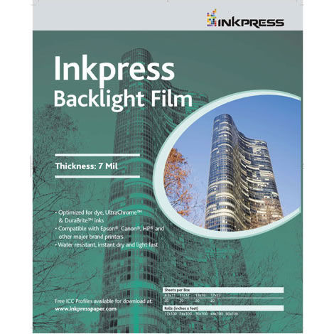 "24"" x 100' Backlight Film 7mil Roll"