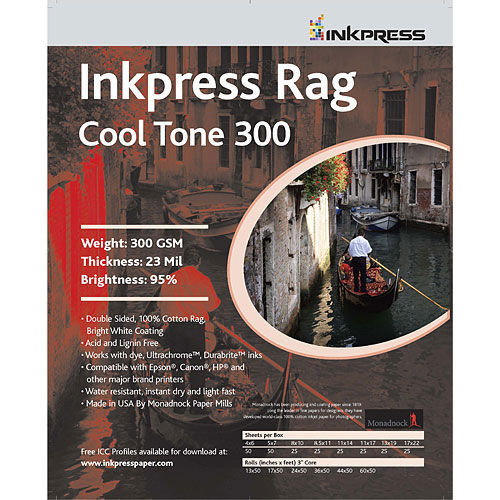 """8"""" x 10"""" Rag Cool Tone DUO 300gsm 24mil 25 Sheets"""