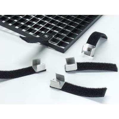 Black Louver Clip w/ Strap,4PK
