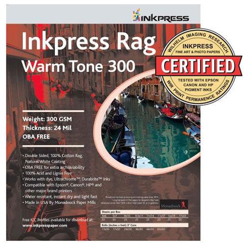 "17"" x 22"" Rag WarmTone 300 gsm 20 Sheets"