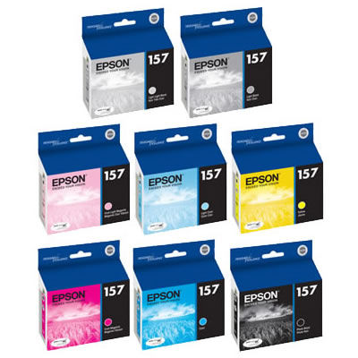 Stylus R3000 Color Ink Set 8 Cartridges w/Matte Black