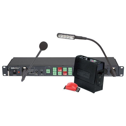 ITC-100 Intercom with Base Station Includes 4x Belt Pack, 4x20m (65ft) Cable, 4x Headset, 4x TD-1