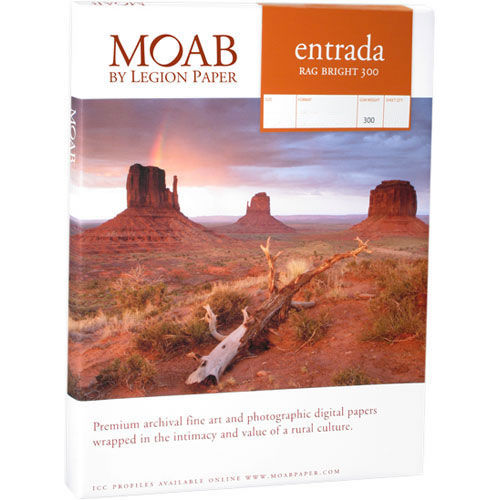 """13""""x19"""" Entrada 300gsm Bright 2 Sided Fine Art Paper 100 Sheets"""