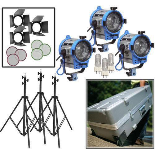650/3 Compact Fresnel Kit With Wheels (for 220V)