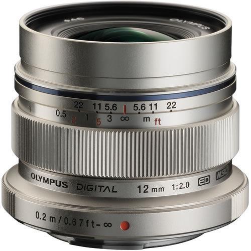 M.Zuiko ED 12mm f/2.0 Silver Lens
