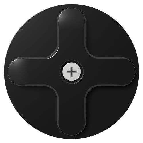 Wallee Wall Disk Mount BLK