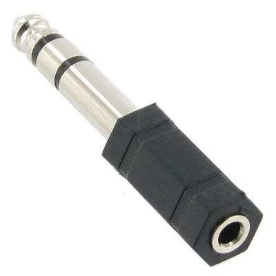 "1/4"" Male to 3.5mm Female Stereo Adapter"