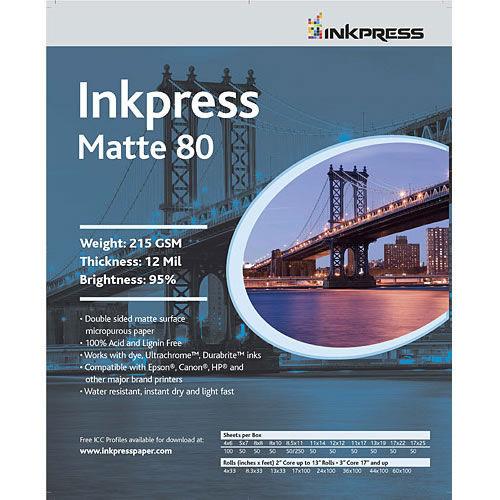 """8.5"""" x 11"""" Duo Matte 80 215gsm 50 Sheets"""