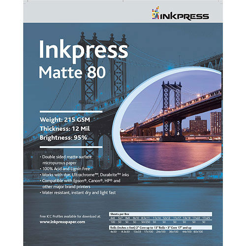 """11"""" x 14"""" Duo Matte 80 215gsm 100 Sheets"""