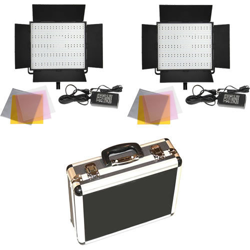 2 X LG-900S LED Video Lights with Hard Case
