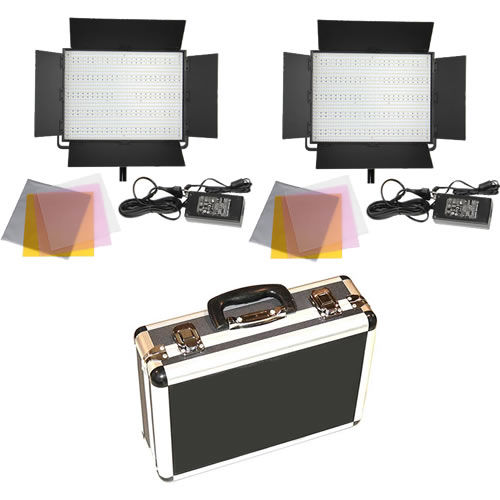 2 X LG-1200 LED Lights 5600K with Hard Case