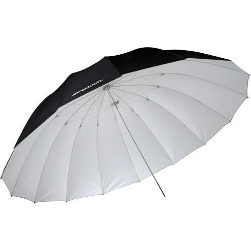 7' White/Black Parabolic Umbrella