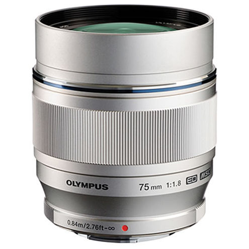 M.Zuiko ED 75mm f/1.8 Silver Lens