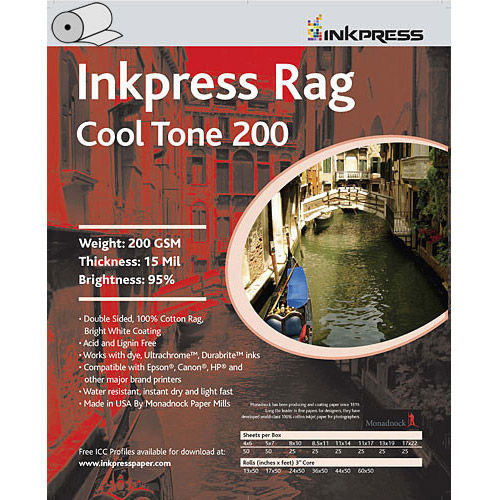 8.5'' x 11'' Rag Cool Tone DUO 200gsm 15mil 5 Sheets