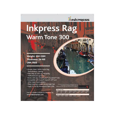 "11"" x 14"" Warm Tone Rag DUO 300gsm 24mil 25 Sheets"