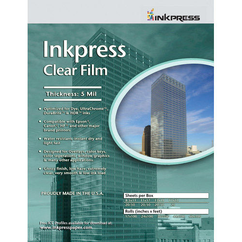 "8.5"" x 11"" Clear Film 5mil 5 Sheets"