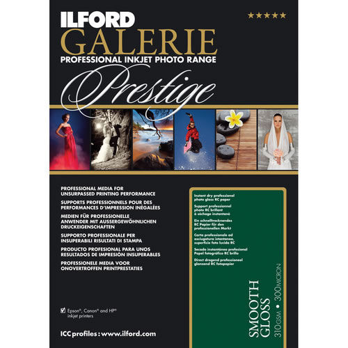 """8.5""""x11"""" Galerie Prestige Smooth Gloss 310gsm 100 Sheets"""