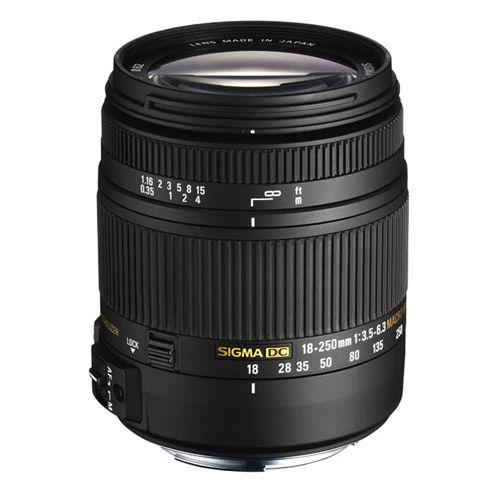 AF 18-250mm f3.5-6.3 DC Macro OS HSM Lens for Nikon