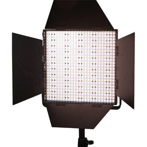 LG-600CS LED Light Bi-Colour with V Mount, Barndoors, Diffuser and DC Adapter