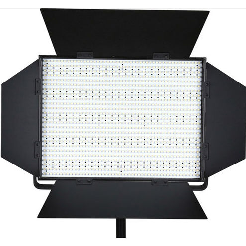 LG-1200S LED Light 5600K with V Mount, Barndoors, Diffuser, DC Adapter, 3200K and Green M