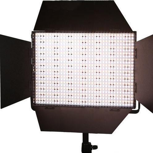 LG-1200CS LED Video Light Bi-color 45 Deg V Mount, BD Diffuser, DC Adapter, 3200K, Green Filters