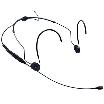 HSP 2 Headset Microphone Omni Directional with Lemo -3 Pin Connector, Black